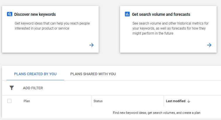 how to discover new keywords on google keyword planner