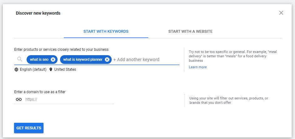 how to find new keyword